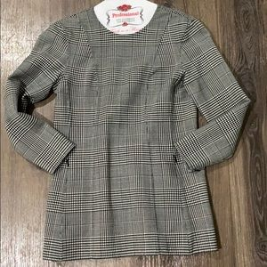 Theory wool plaid top